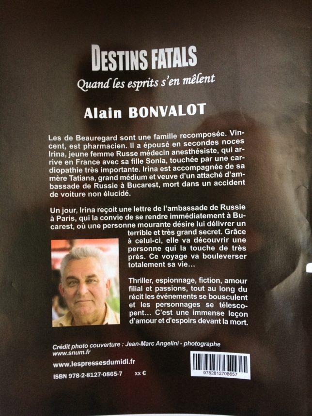 Alain Bonvalot Destins Fatals couverture JM Angelini